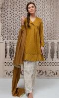 3 piece Shirt, Shalwar and Dupatta A-symmetric lawn printed shirt Cotton shalwar Lawn dupatta,