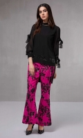 2 pieces Front short back long georgette tunic  Raw silk fully sequined pants