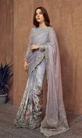 2 pieces Saree and Petti coat Cotton silk embroidered blouse Digital printed silk sare with net embroidered pallu Embellished blouse Raw silk Petti coat.