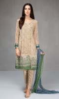 Net fully embroidered angrakha Jacquard pants Shaded net embroidered dupatta.