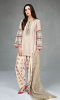 3 piece Jacquard embroidered shirt with handwork Fully embroidered rawsilk shalwar Zari net embroidered dupatta