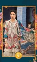 2Piece  Printed shirt 3.15m Printed chiffon dupatta 2.5m Embroidered neckline patti 1m