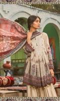 3 Piece with silk dupatta  Printed shirt 3.15m  Cambric dyed trouser 2m  Silk printed dupatta 2.5m  Embroidered neckline 1 piece