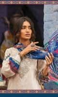 3Piece  Printed shirt 3.15m  Dyed cambric trouser 2m Printed chiffon dupatta 2.5m Embroidered neckline 1piece