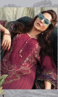 Printed linen shirt printed chiffon dupatta Printed cambric trouser Embroidered neckline Embroidered sleeve patti
