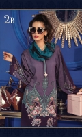 Printed linen shirt Printed chiffon dupatta Embroidered ghera patti