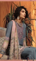 Printed karandi shirt Printed chiffon dupatta Embroidered neckline