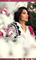 Printed linen shirt Printed chiffon dupatta Embroidered floral patches