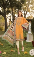 Printed lawn shirt Cambric trouser Printed trouser patti Chiffon printed dupatta Embroidered neckline