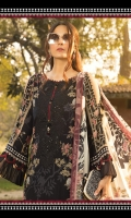 Printed lawn shirt Cambric trouser Printed chiffon dupatta Embroidered neckline Embroidered trouser patti