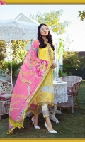 Printed Lawn Shirt Printed cambric Trouser Printed Trouser Patti Printed Chiffon Dupatta Embroidered Ghera Patch
