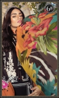 Printed Lawn shirt Dyed cambric Trouser Printed Silk Dupatta Embroidered patches Puff Print Organza Trouser Patti