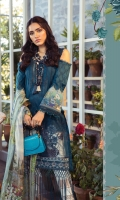 Printed Lawn Shirt Printed Lawn Patti Dyed Cambric Trouser Printed Silk Dupatta Embroidered Patch
