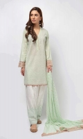 3 Piece Shirt, Trouser and Dupatta Fully front embroidered lawn shirt Embroidered cotton shalwar Chiffon dupatta