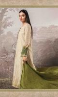 100% Pure Hand Woven Silk Net shirt Pure Chinese silk dupatta Cotton satin trouser Lawn under shirt Hand embroidered & embellished neckline Hand embroidered and embellished sleeve lace