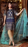 Print Embroidered Linen Shirt Embroidered Linen Trouser Embroidered Net Dupatta