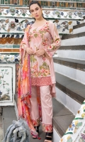 Embroidered shirt            Embroidered Trouser Printed Chiffon Dupatta