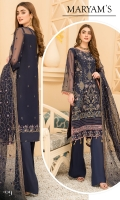 Embroidered Front Organza. Embroidered Front border. Embroidered Back Organza. Embroidered Back border. Embroidered Sleeves Organza. Embroidered Sleeves border. Embroidered dupatta organza. Trouser Dyed grip