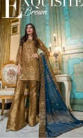 Chiffon Embroidered Front, Sleeves, Dupata, Embroidered Front, Back, Back Daman Patch, Jamawaar Trouser and Accessories.