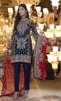 CHIFFON EMBROIDERED FRONT, BACK , SLEEVES, DUPATTA EMBROIDERED FRONT BACK DAMAN PATCH, GRIP, TROUSER ACCESSORIES