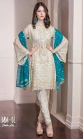 Chiffon Embroidered Front, Back, Sleeves. Daman Patti, Trouser Patti & Patch. Chiffon Embroidered Dupatta, Grip Trouser.