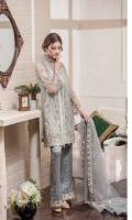 Embroidered Net Front, Back, Sleeves Trouser Patti, Inner Lining. Embroidered Net Dupatta, Embroidered Grip Trouser. Accessories