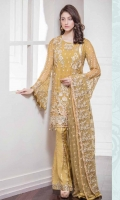 Chiffon Embroidered Front, Back, Sleeves Embroidered Grip Trouser Embroidered Net Dupatta Accessories
