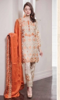 Embroidered Mysorie Front, Back, Sleeves. Embroidered Daman & Patch patti. Mysorie Embroidered Dupatta, Trouser Patch + Grip Trouser. Accessories