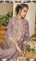 Embroidered Swiss front+back+sleeves Embroidered patti+sleeves. Cotton trouser. Digitally printed chiffon dupatta.