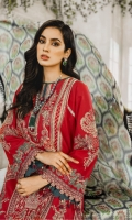 Formal Dress with Hand Embroidered: Lawn Body (Front, Back & Sleeves), Embroidered Organza Patti Patch (Front, Back & Sleeves). Paired with Digital Print Chiffon Dupatta and Cotton Trouser.