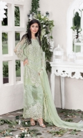 Embroidered pure chiffon front+back+sleeves Embroidered pure chiffon duppata Embroidered daman patch Embroidered trouser patti Grip trouser+lining Accessories  COMPARE  ADD