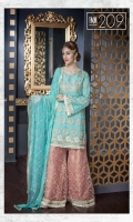 Chiffon Embroidered Front Sleeves Dupatta Chiffon Back & Patch Embroidered Front Back Patti & Embroidered Trouser
