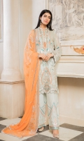 EMBROIDERED CHIFFON FRONT, BACK & SLEEVES EMBROIDERED CHIFFON DUPATTA