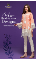 1 piece Lawn Ready To Wear shirt  Boat Neckline  Plain Lace And Organza Embellished Front  Plain Lace And Organza Embellished sleeves  Plain full Sleeves  Plain Full back