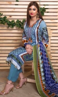 Printed Viscose Shirt Front Printed Viscose Shirt Back Embroidered Necklinne Printed Sleeves Printed Whol Shawl Dyed Trouser See Less