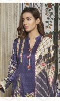 Embroidered Digital Printed Viscose Shirt Digital Printed Sleeves Digital Printed Shawl Dyed Trouser