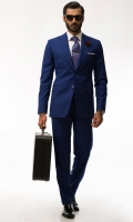 Cobalt Blue Two piece suit Two buttons Notch lapel Two side Vents Slim fit Light weight tropical fabric