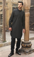 100% Cotton black shalwar kameez.