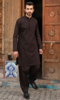 100% Cotton brown shalwar kameez.