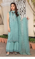 Embroidered Lawn Shirt Embroidered Chiffon Dupatta Plain Trouser