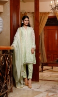 Unstitch 3pc chiffon embroidery suit