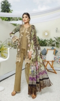 Digital Printed Cambric Cotton Front embroidered Digital Bamber Chiffon Dupatta Dyed Cotton Trouser