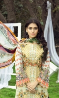 Embroidered Lawn Shirt  Digital Printed Chiffon dupatta  Simple Trouser