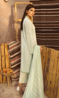 EMBROIDERED LAWN FRONT BACK AND SLEEEVE DIGITAL PRINT CHIFFON DUPATTA COTTON TROUSER EMBROIDERED TROUSER PATCH