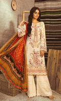 EMBROIDERED LAWN FRONT BACK AND SLEEEVE EMBRIODERED FRONT BACK DAMAN PATCH DIGITAL PRINT SILK DUPATTA COTTON TROUSER EMBROIDERED TROUSER PATCH