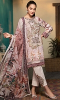 Digital Printed Shirt Embroidered Organza Neckline Embroidered Organza Motif for Trouser Dyed Trouser Digital Printed Chiffon Dupatta