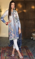 Digital Printed Shirt Embroidered Organza Patti for Front Embroidered Organza Motif for Front Dyed Trouser Digital Printed Chiffon Dupatta