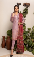 Shirt: Pearl Printed Cambric (3 meters) Dupatta: Pearl Printed Cambric (2.5 meters) Trouser: Dyed Cotton (2.5 meters)