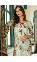 3 Piece Embroidered Lawn Suit Shirt : Printed Lawn Dupatta : Printed Chiffon Trouser : Dyed EMBROIDERY: Embroidered Daman on Shirt