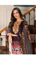 3 Piece Embroidered Lawn Suit Shirt : Printed Lawn Dupatta : Printed Chiffon Trouser : Dyed EMBROIDERY: Embroidered Gala